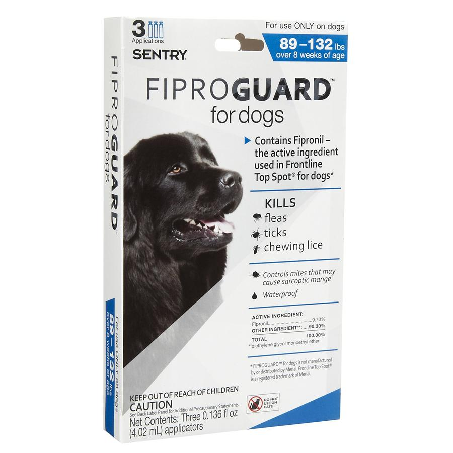 Fiprogaurd 3 Packs - Dogs 89 Lbs.& Up
